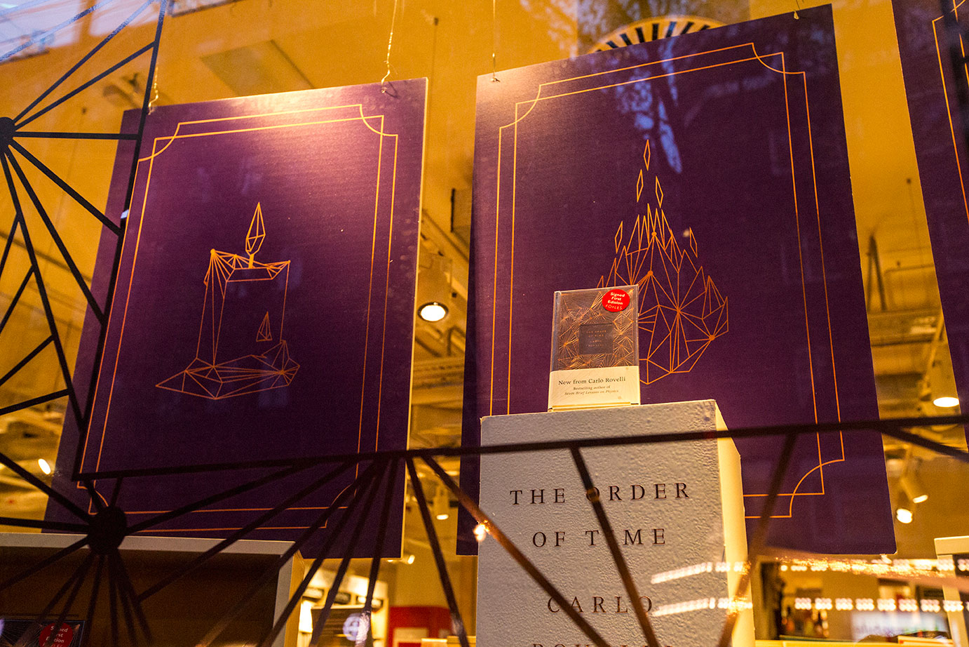Joseph Botcherby, The Order of Time, Carlo Rovelli, Foyles, Penguin Books, Purple, Poster, Graphic Design